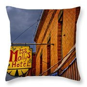 Miss Molly's Hotel Throw Pillow