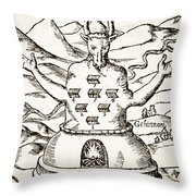 Moloch Throw Pillow