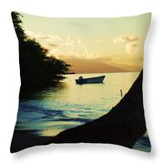Molokai Beach Throw Pillow
