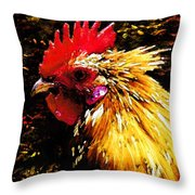 Cock Fighter Throw Pillow