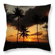 Moloki Sunset Throw Pillow