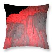 Molten Cherry Throw Pillow