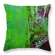 Molten Earth Lime Throw Pillow