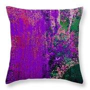 Molten Earth Purple Throw Pillow