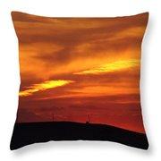Molten Evening Throw Pillow