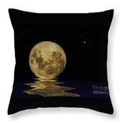 Molten Moon Throw Pillow