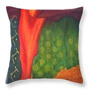 Molten Verdure Throw Pillow