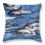 Mom And Baby On The Go Throw Pillow