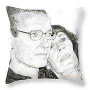 Mom And Dad Throw Pillow
