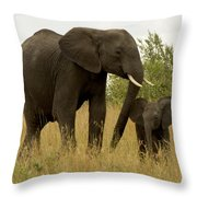 Mom And Little Throw Pillow