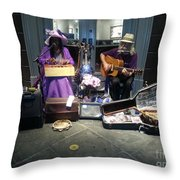 Mom And Pop Band Throw Pillow