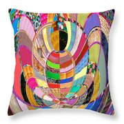 Mom Hugs Baby Crystal Stone Collage Layered In Small And Medium Sizes Variety Of Shades And Tones Fr Throw Pillow