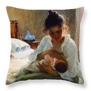 Mom I Love You   Throw Pillow