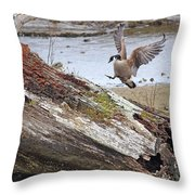 Mom Is Home Throw Pillow