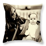 Mom Loves Baby Throw Pillow