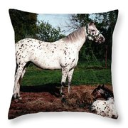 Mom Watches Over Throw Pillow