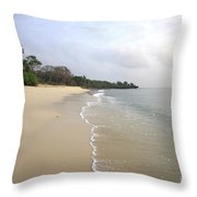 Mombassa Beach Throw Pillow