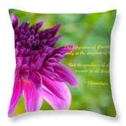 Moment Of Bloom Throw Pillow