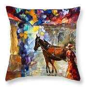 Momentary Stop Throw Pillow