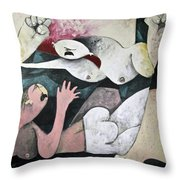 Momentis  The Fight Throw Pillow