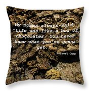 Momma Throw Pillow