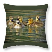 Momma's Little Gooslings Throw Pillow
