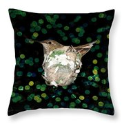 Mommy Hummingbird In The Nest Throw Pillow