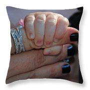 Mommy Is Here Throw Pillow