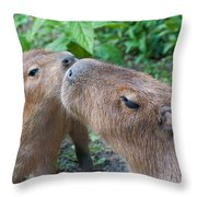 Mommy Kisses Throw Pillow