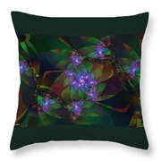 Mom's African Violets Throw Pillow