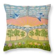 Do You See Love? By Marian Krause Throw Pillow