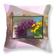 Moms Garden Art Throw Pillow