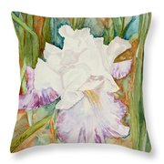 Mom's Iris Throw Pillow