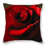Mom's Red Rose Happy Birthday Wife Throw Pillow