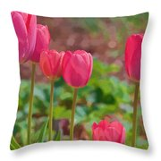 Mom's Spring  Throw Pillow