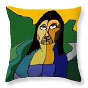 Mona Lisa Updated Throw Pillow