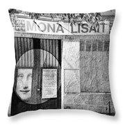 Mona Lisait Throw Pillow