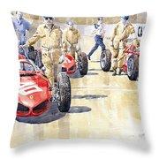 Monaco Gp 1961 Ferrari 156 Sharknose  Throw Pillow