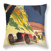 Monaco Grand Prix 1932 Throw Pillow