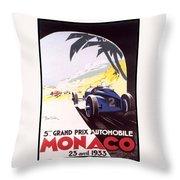 Monaco Grand Prix 1933 Throw Pillow
