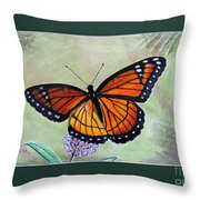 Viceroy Butterfly By George Wood Throw Pillow