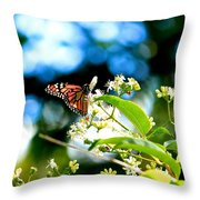 Monarch Butterfly I Throw Pillow