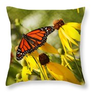 Monarch Days 1 Throw Pillow