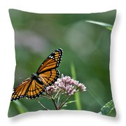 Monarch Perch Throw Pillow