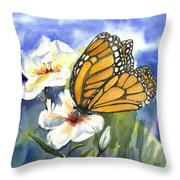 Monarchs In The Gardens Throw Pillow