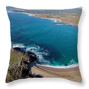Monastery Beach Throw Pillow