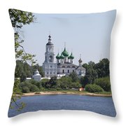 Monastery In Yaroslavl Throw Pillow