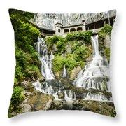 Monastery Of St. Beatus Throw Pillow