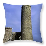 Monastic Round Tower Throw Pillow