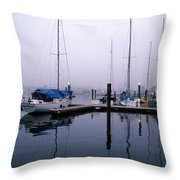 Monday Morning Throw Pillow by Skip Willits